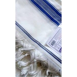 Талит акрил (синие и золотые полосы), 140х190 см