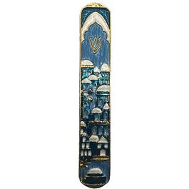 Футляр для мезузы Иерусалим 12 см Синий