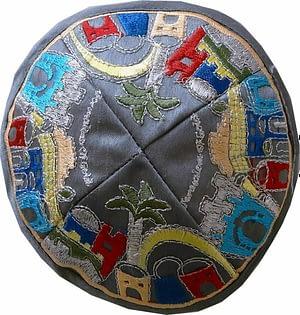 Кипа 16 см с орнаментом - 5 видов
