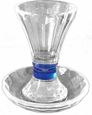 Бокал для кидуша с кристаллом для подставки