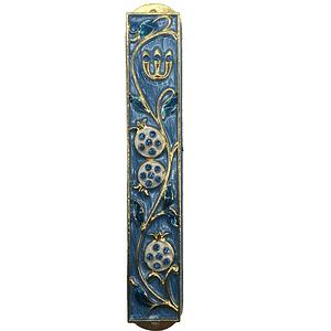 Футляр для мезузы Гранат 12 см Синий