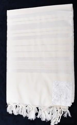 Талит шерсть  белый  170/220