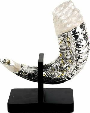 Шофар Иерусалим с подставкой среднего размера Серебро 925