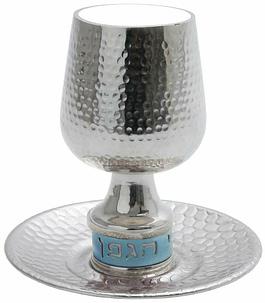 Чашка для кидуша, кованая и анодированная